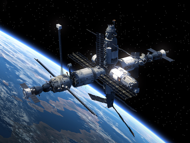 Spaceports in Space where they belong!