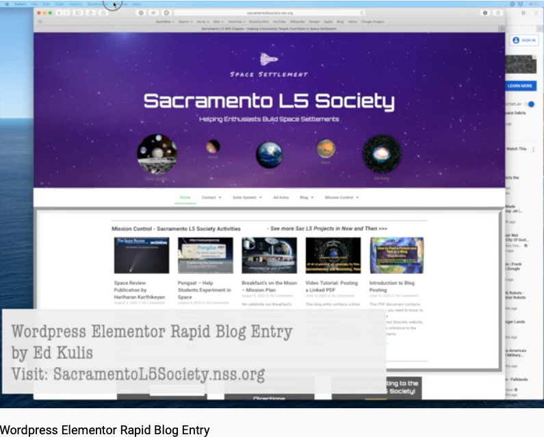 How To Blog to the SacL5 Site